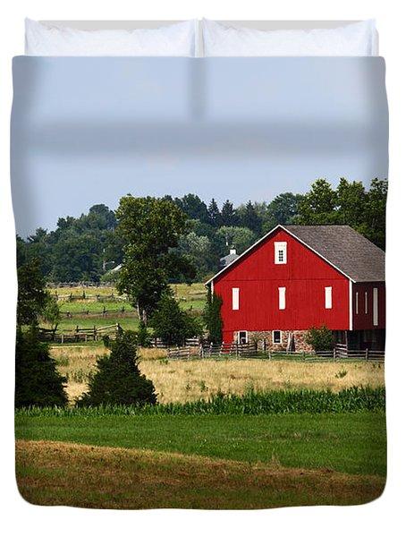Red Barn Gettysburg Duvet Cover