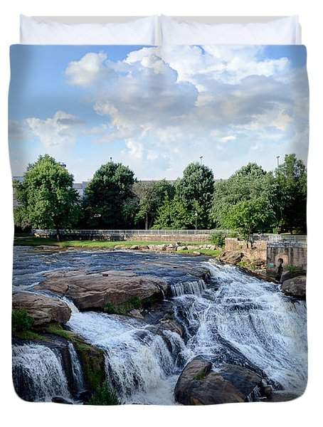 Reedy River Falls Duvet Cover