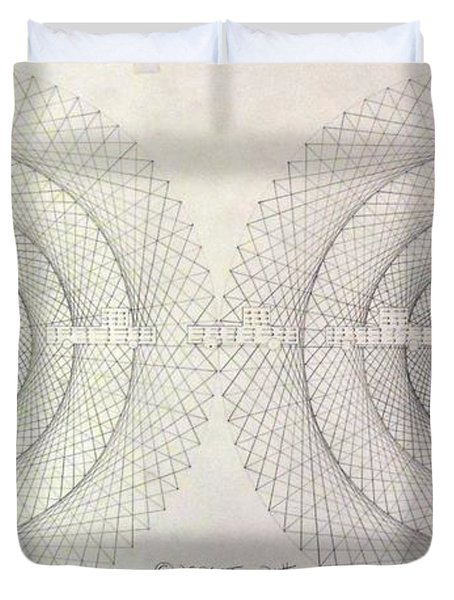 Relativity Duvet Cover by Jason Padgett
