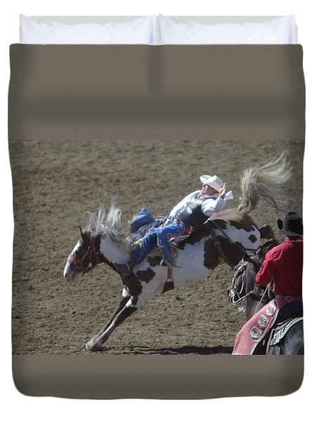 Ride Em Cowboy Duvet Cover by Jeff Swan