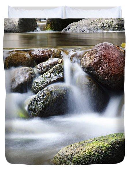 River Rocks Duvet Cover by Jenna Szerlag