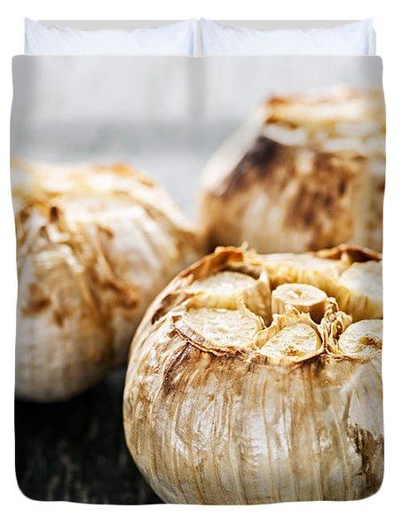 Roasted Garlic Bulbs Duvet Cover by Elena Elisseeva