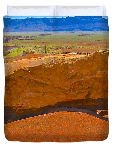 Rock Orange Duvet Cover by Jim Hogg