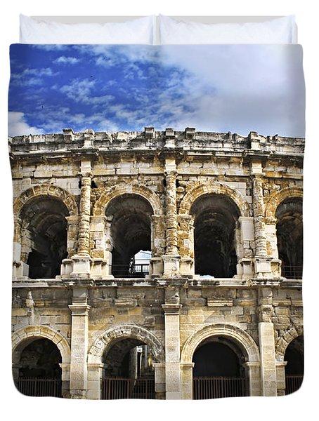 Roman Arena In Nimes France Duvet Cover by Elena Elisseeva