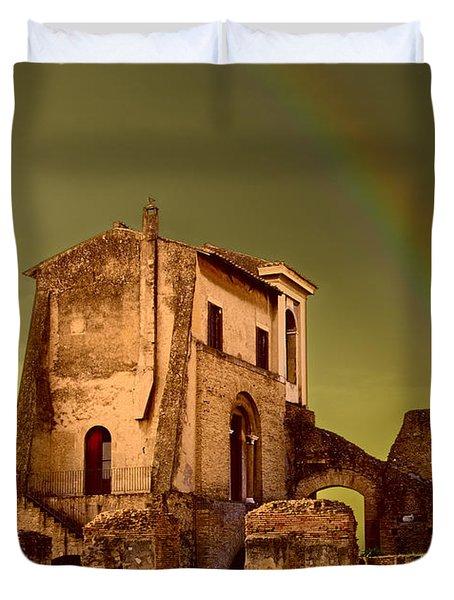 Ruin At Palatine Hill Duvet Cover