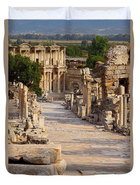 Ruins Of Ephesus Duvet Cover