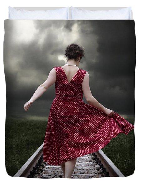 Running Duvet Cover by Joana Kruse