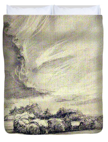 Rural Landscape Duvet Cover