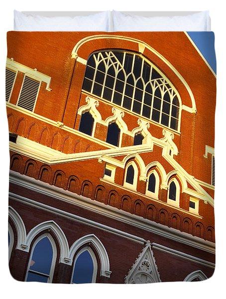 Ryman Auditorium Duvet Cover by Brian Jannsen