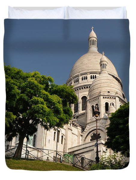 Duvet Cover featuring the photograph Sacre Coeur by Jeremy Voisey