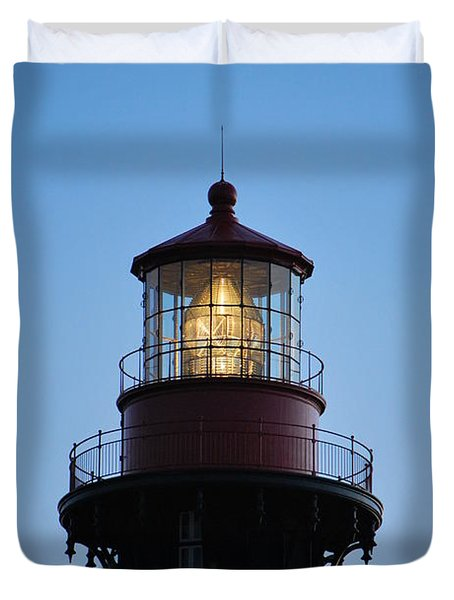 Duvet Cover featuring the photograph Saint Augustine Lighthouse -1 by Bob Sample