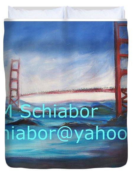 San Francisco Golden Gate Bridge  Duvet Cover by Eric  Schiabor