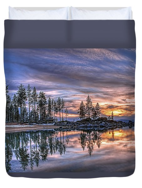 Waning Winter Duvet Cover