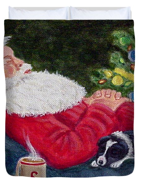 Santa And Breagh Duvet Cover