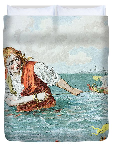 Scene From Gullivers Travels Duvet Cover by Frederic Lix