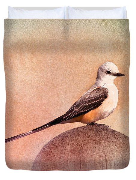 Scissor-tailed Flycatcher Duvet Cover
