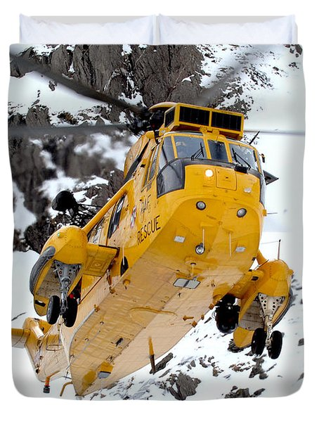 Seaking Helicopter Duvet Cover by Paul Fearn