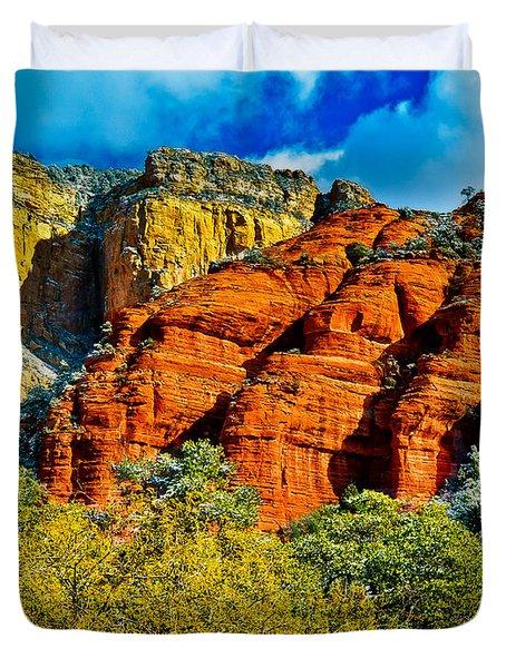 Duvet Cover featuring the photograph Sedona Arizona - Wilderness Area by Bob and Nadine Johnston