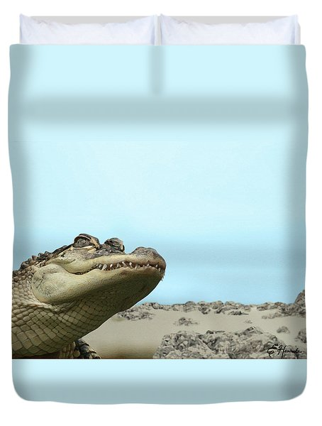 See You Later Alligator Duvet Cover by Ellen Henneke
