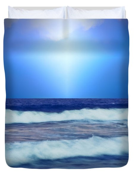 Seek Peace Duvet Cover