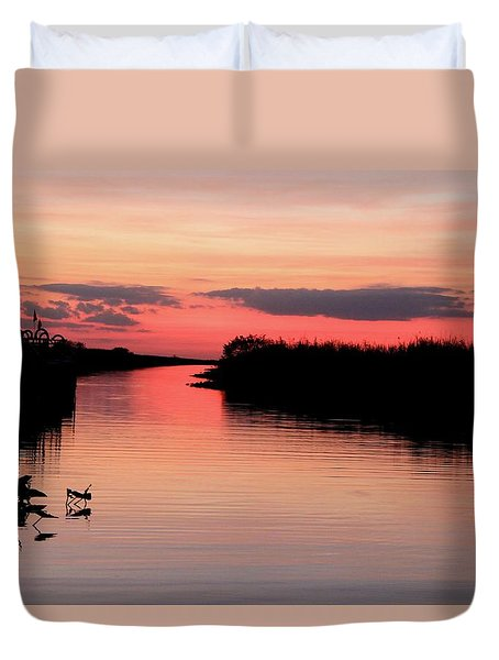 Seeking The Moment Duvet Cover by AR Annahita