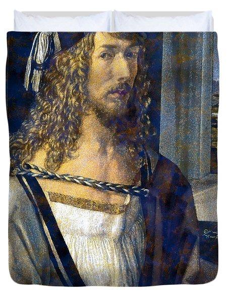 Self Portrait Duvet Cover by Albrecht Durer