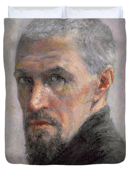 Self Portrait Duvet Cover by Gustave Caillebotte