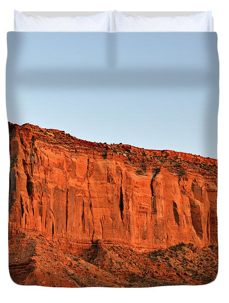 Sentinel Mesa Monument Valley Duvet Cover by Christine Till