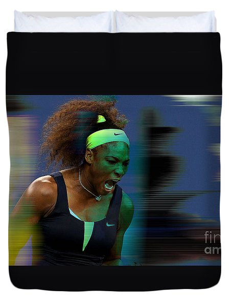 Serena Williams Duvet Cover by Marvin Blaine