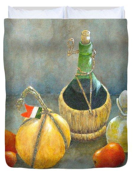 Sicilian Table Duvet Cover by Pamela Allegretto
