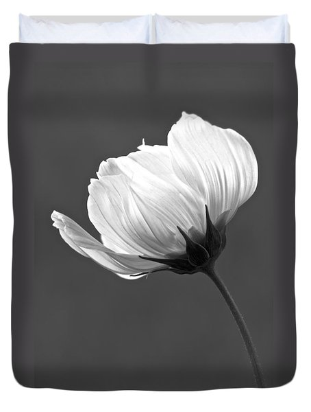 Simply Beautiful In Black And White Duvet Cover by Penny Meyers
