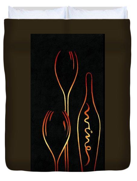 Simply Wine Duvet Cover by Sandi Whetzel