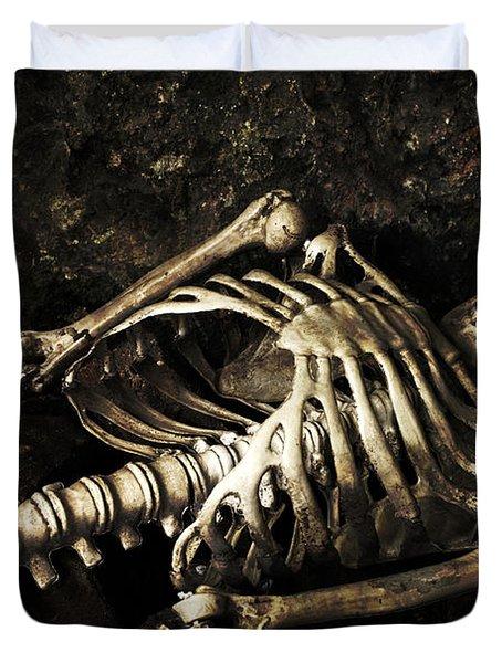 Skeleton  Duvet Cover by Amanda Elwell