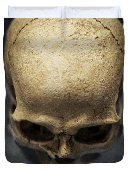 Skull  Duvet Cover by Edward Fielding