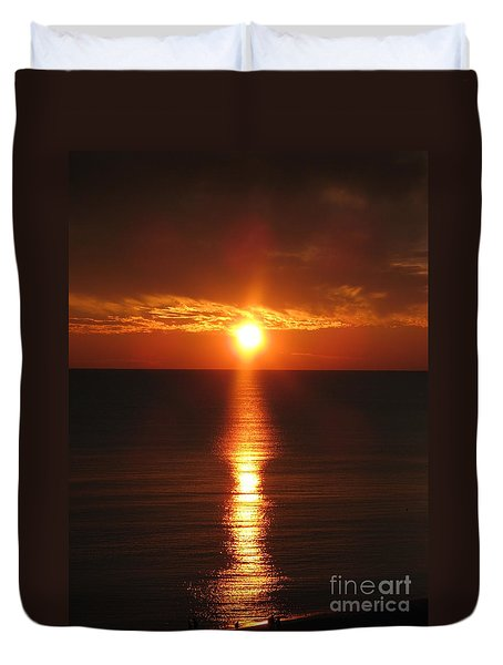 Sky On Fire Duvet Cover by Christiane Schulze Art And Photography