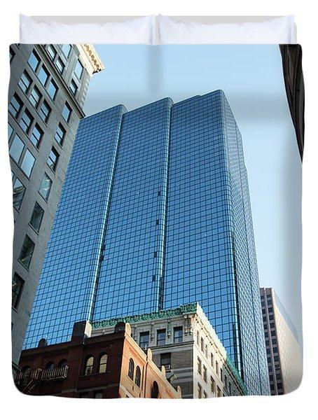 Skyscrapers In A City, Boston Duvet Cover