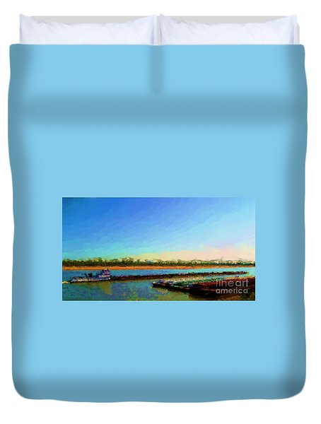 Duvet Cover featuring the photograph Slow And Steady by Kelly Awad