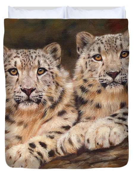 Snow Leopards Duvet Cover