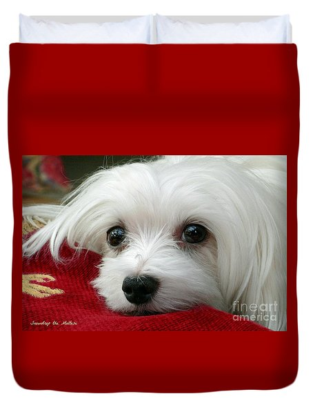 Snowdrop The Maltese Duvet Cover