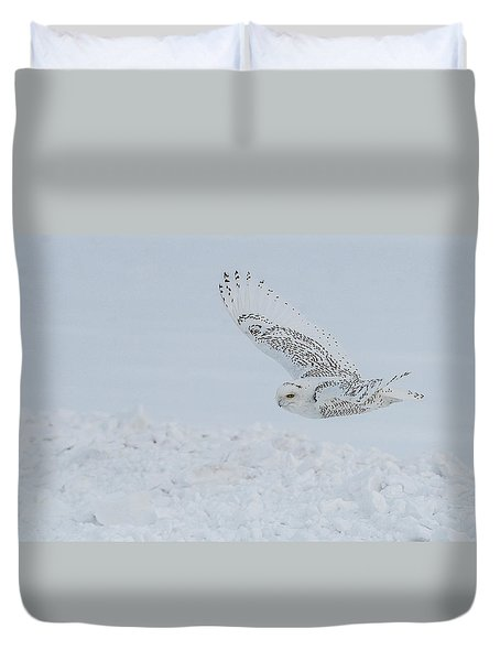 Snowy Owl #2/3 Duvet Cover by Patti Deters