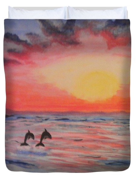 2 Souls Reunited Duvet Cover by Thomasina Durkay