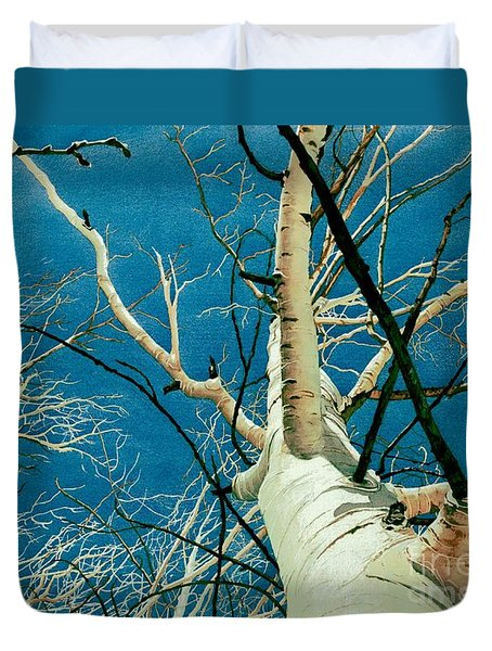 Duvet Cover featuring the painting Standing Ovation 2 by Barbara Jewell