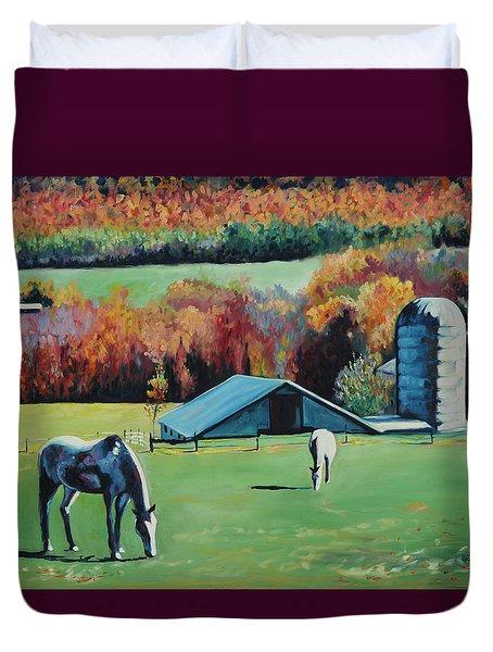 Stephentown Farm Duvet Cover by Eve  Wheeler