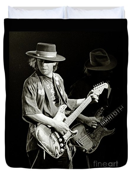 Stevie Ray Vaughan 1984 Duvet Cover