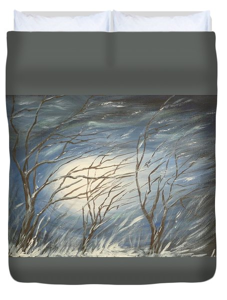Storm  Duvet Cover by Irina Astley