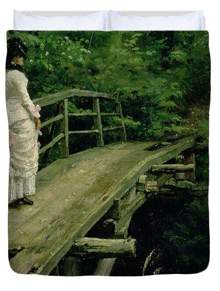 Summer Landscape Duvet Cover by Ilya Efimovich Repin
