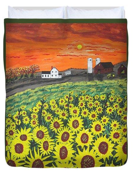 Sunflower Valley Farm Duvet Cover