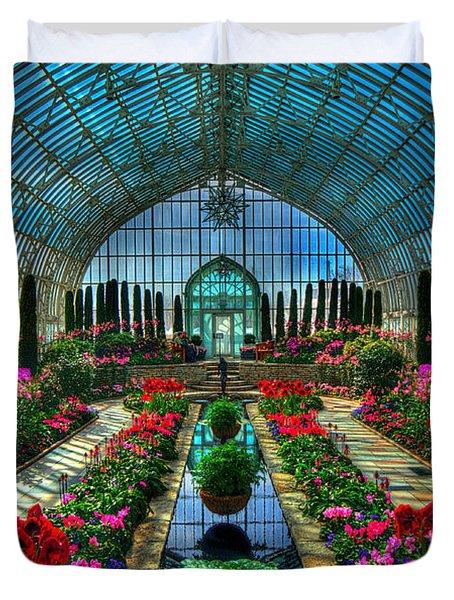Sunken Garden Como Conservatory Duvet Cover by Amanda Stadther
