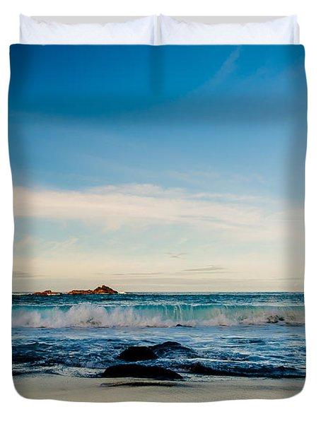 Sunlight On Beach Duvet Cover