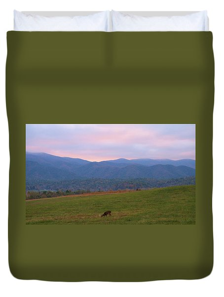 Sunrise In Cades Cove Duvet Cover by Dan Sproul